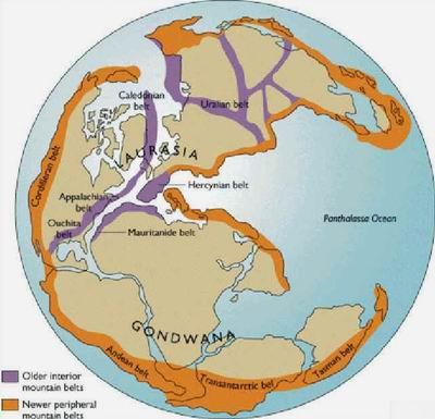Карта старых и молодых гор